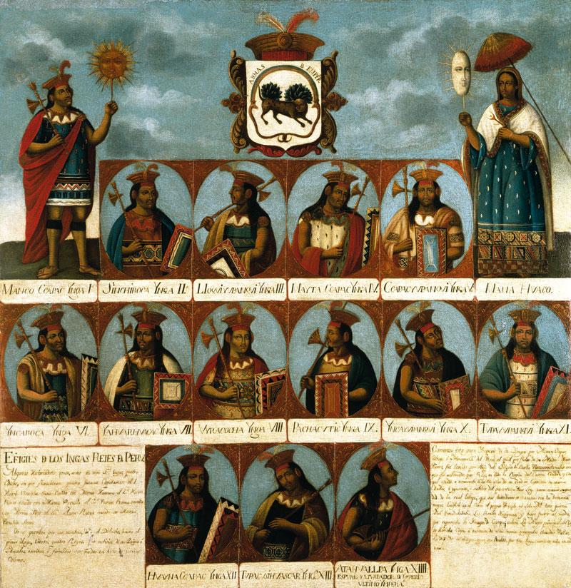 Genealogía de los Incas-Siglo XVIII