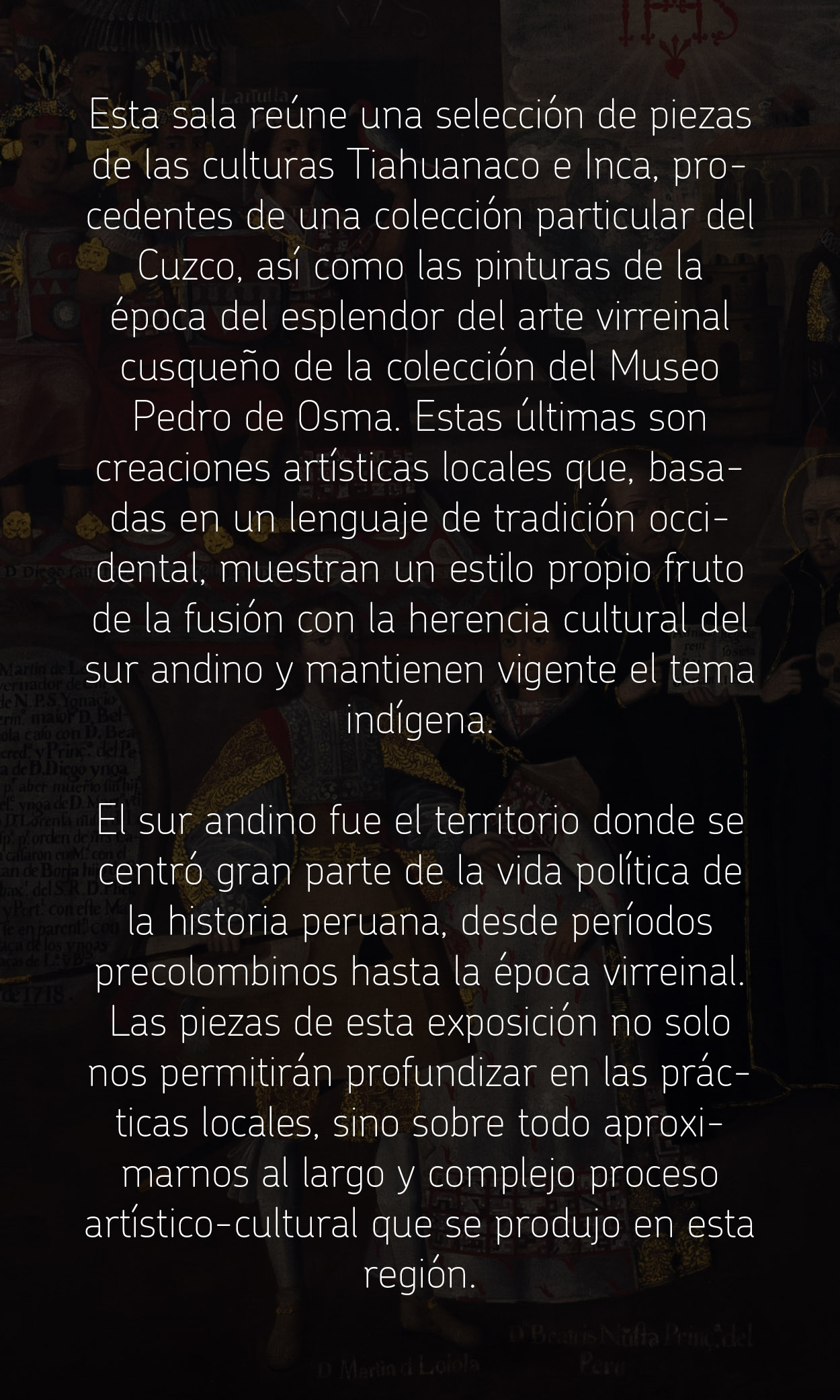 Sala 12. Arte del Sur Andino