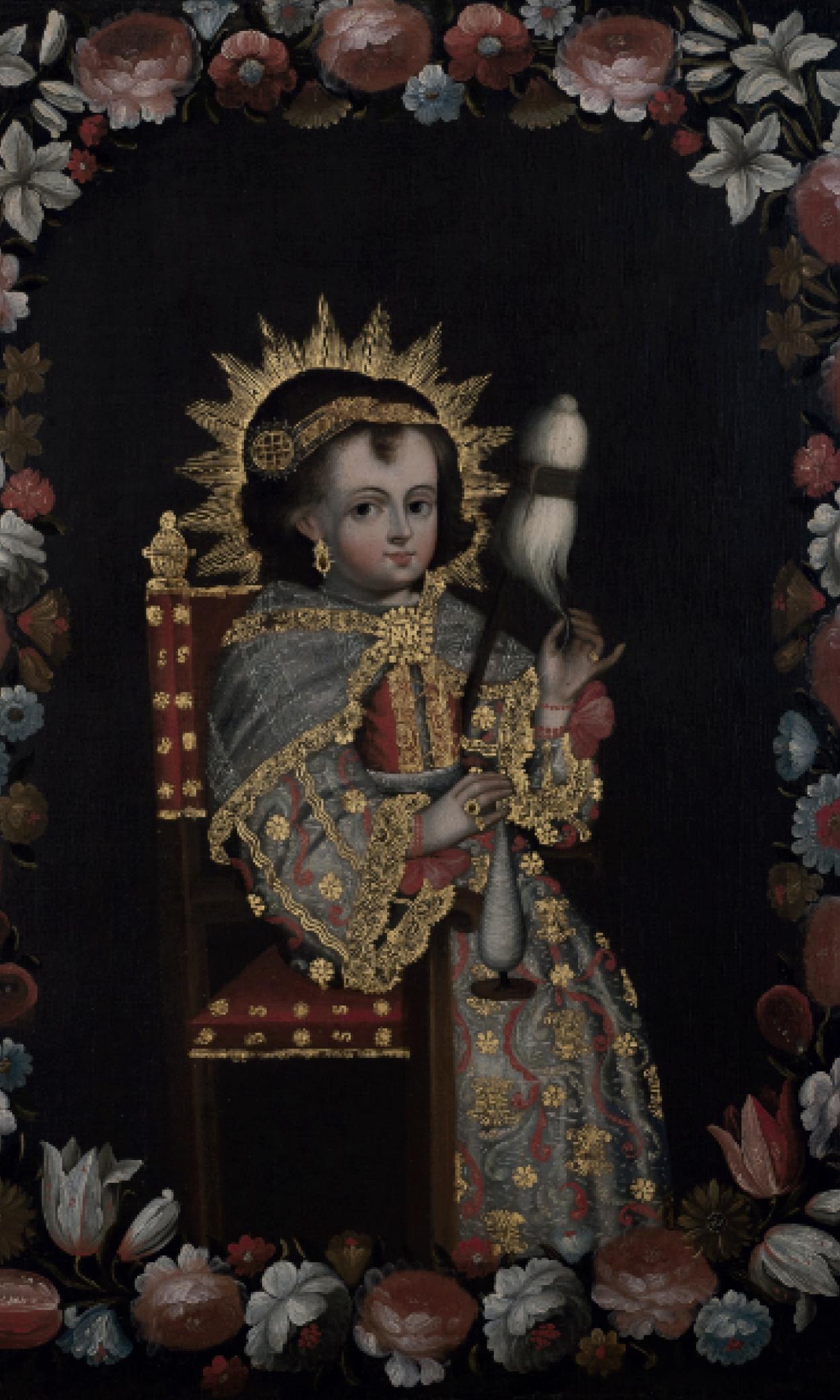 Virgen niña hilando (1729 - 1759)