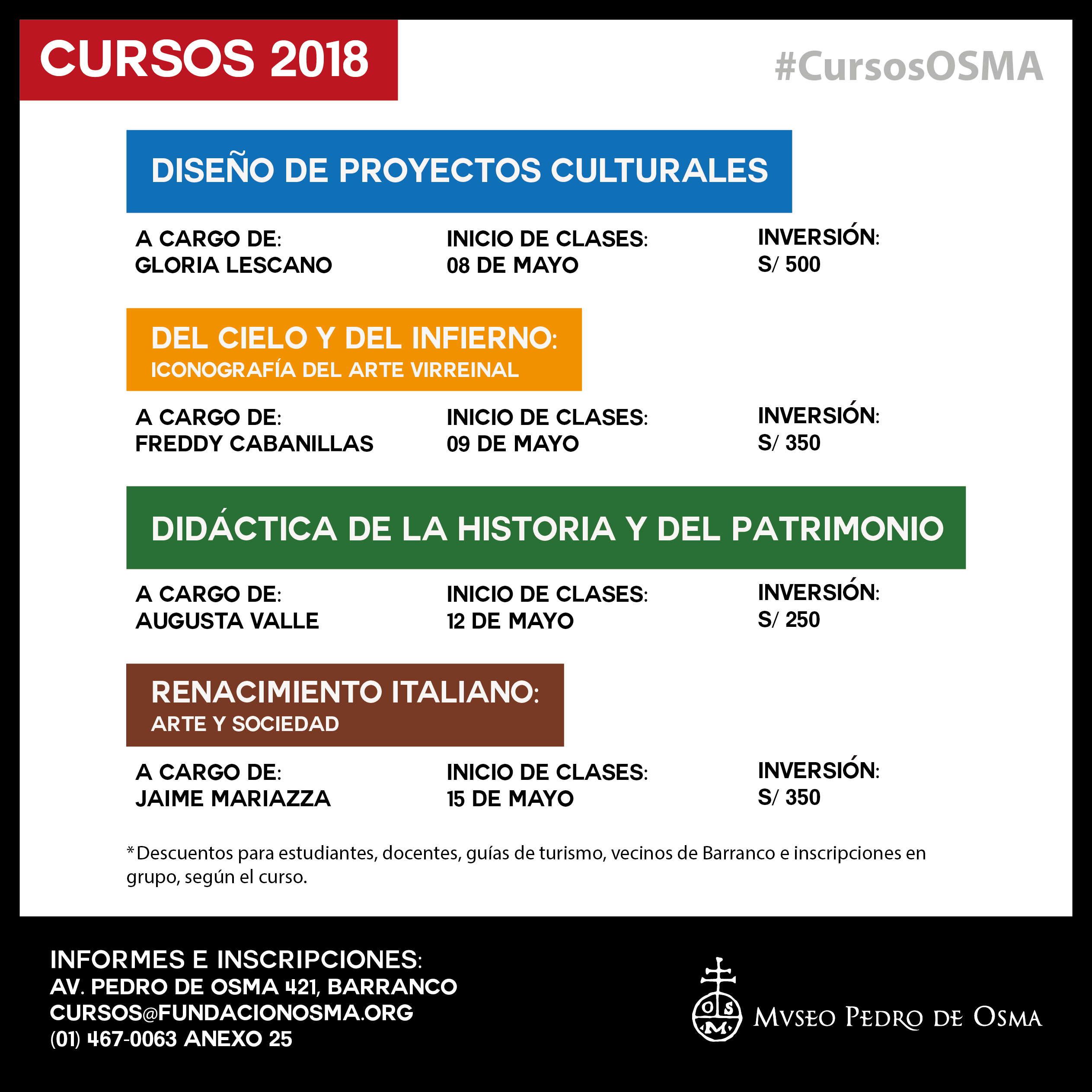Cursos Osma 2018